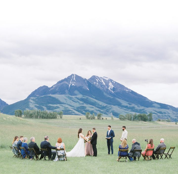 Fresh Summer Sage Lodge Elopement