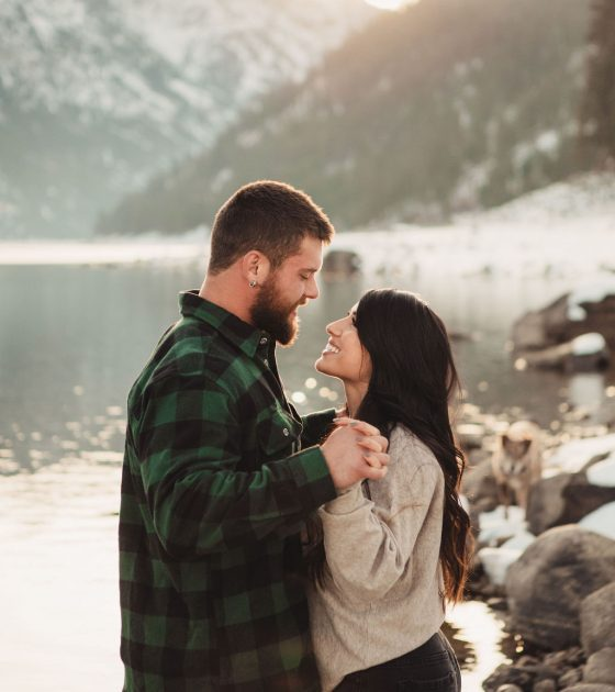 Simiple and Snowy Montana Engagement
