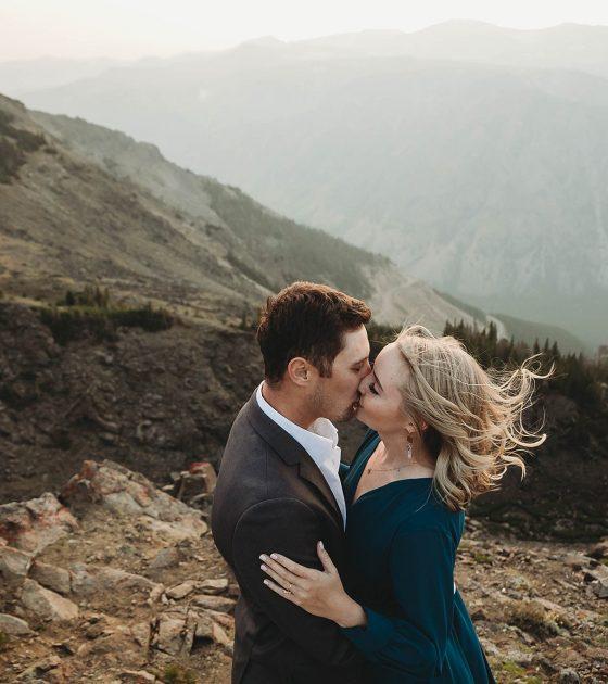 Smoky Mountaintop Engagement
