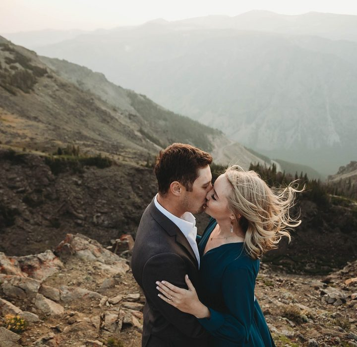 Smoky Mountaintop Engagement