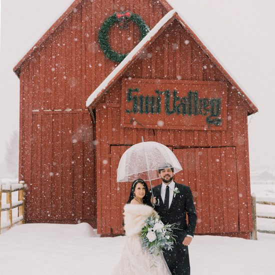 Snowy Intimate Sun Valley Elopement