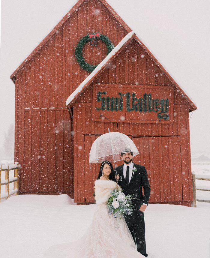 Snowy Intimate Sun Valley Elopement