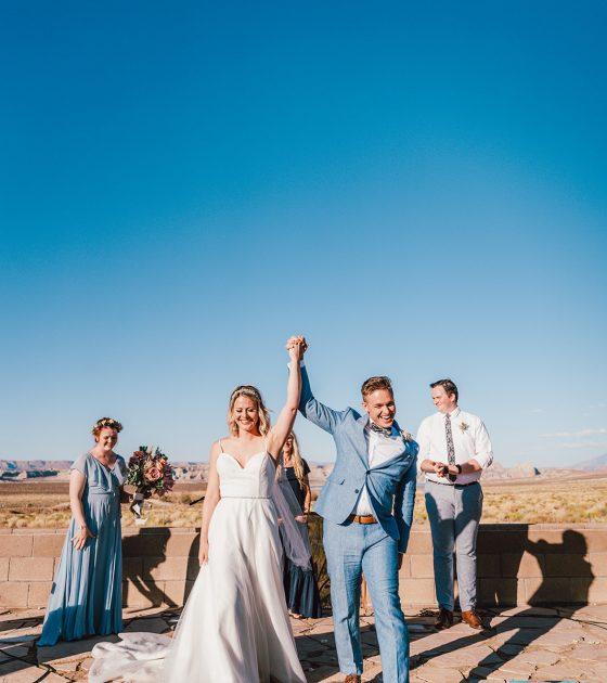 Sweet and Intimate Lake Powell Wedding
