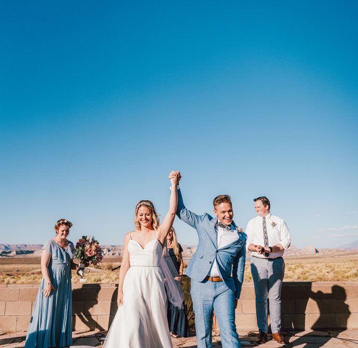 Sweet and Intimate Lake Powell Wedding
