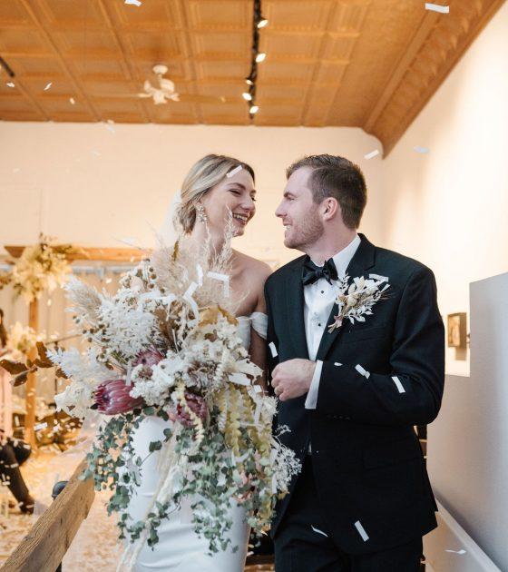 Sweet and Intimate Montana Gallery Wedding