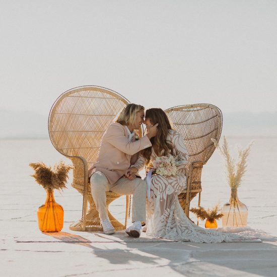 Bohemian Bonneville Salt Flats Bridals Inspiration