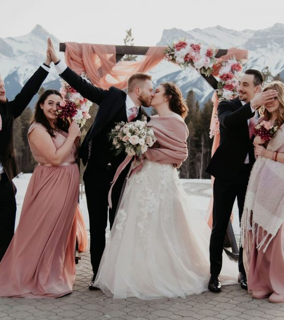 Cozy and Romantic Silvertip Resort Wedding