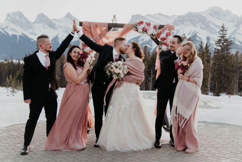 Cozy and Romantic Silvertip Resort Wedding