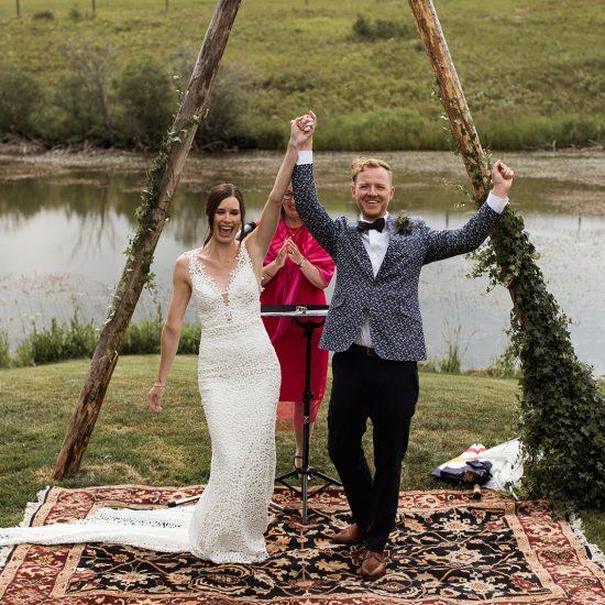 Elegant Outdoor Alberta Wedding