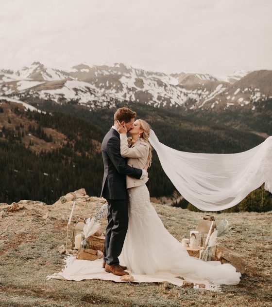 Mountaintop Loveland Pass Elopement