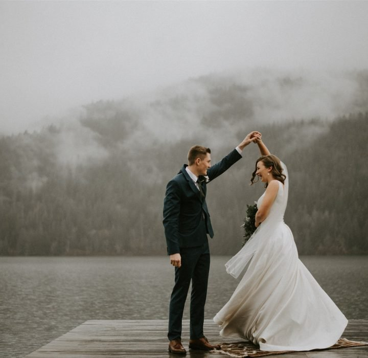 Rainy Chilliwack Golf and Country Club Wedding