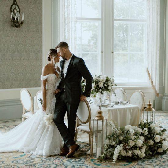 Regal White and Sage Wedding Inspiration
