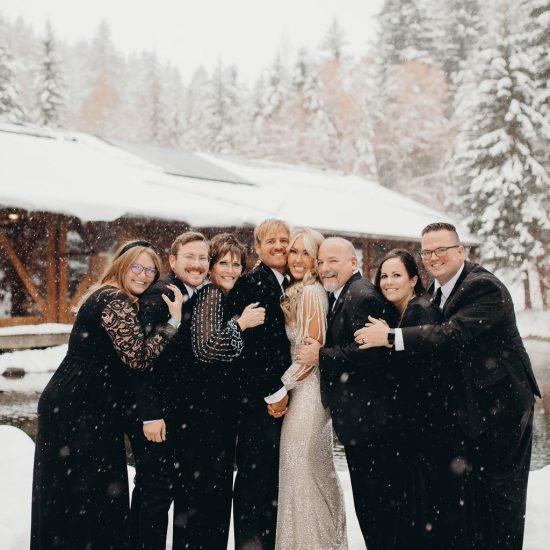 Stunning Winter Sundance Mountain Resort Wedding