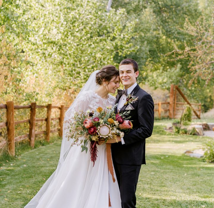 Colorful Fall Sun Valley Wedding