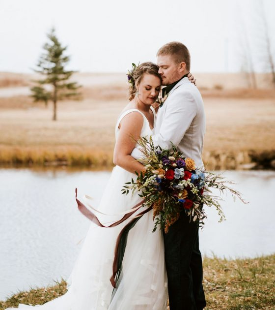 Bold and Moody Micro Wedding in Wyoming
