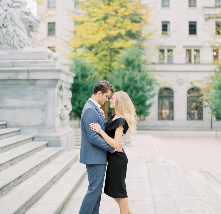 Fashion-Forward Downtown Vancouver Engagement