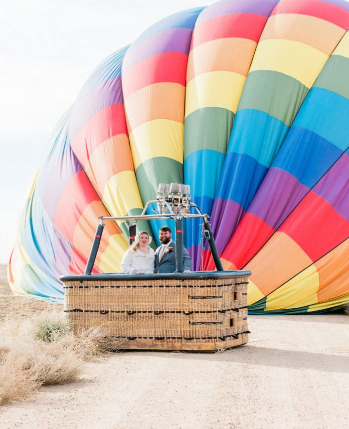 Hot Air Balloon Elopement in Colorful Colorado