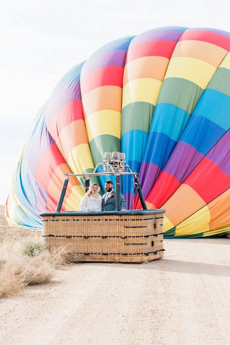 Hot Air Balloon Elopement in Colorful Colorado