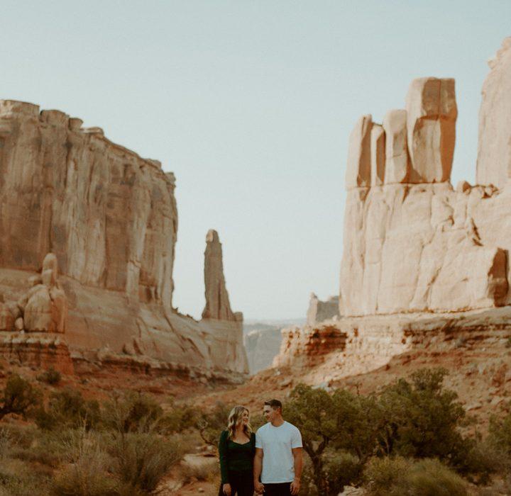 Darling Desert Engagement in Moab