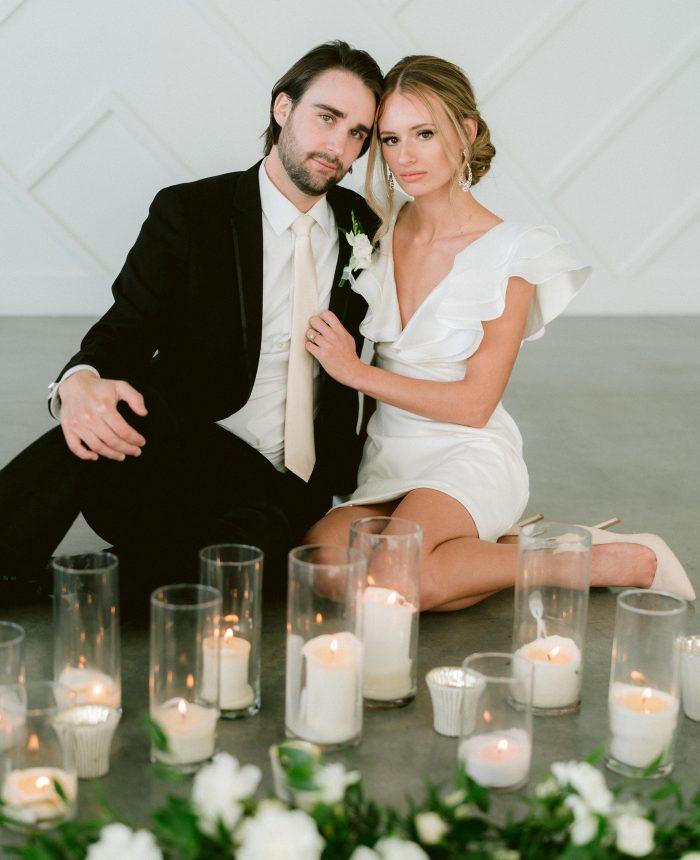 Clean and Crisp All-White Azalea Wedding Inspiration