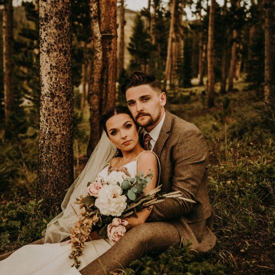 Woodland Bohemian Breckenridge Wedding