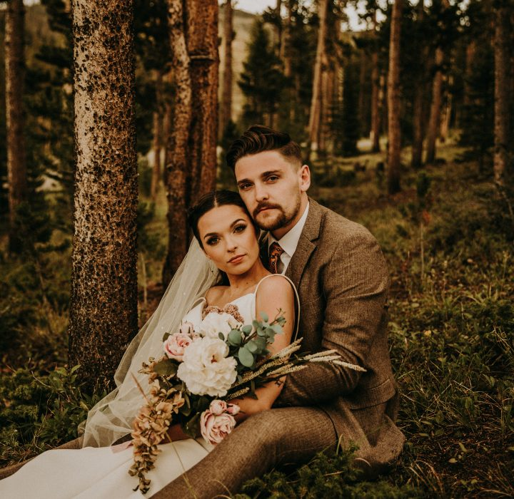 Woodland Bohemian Breckenridge Wedding