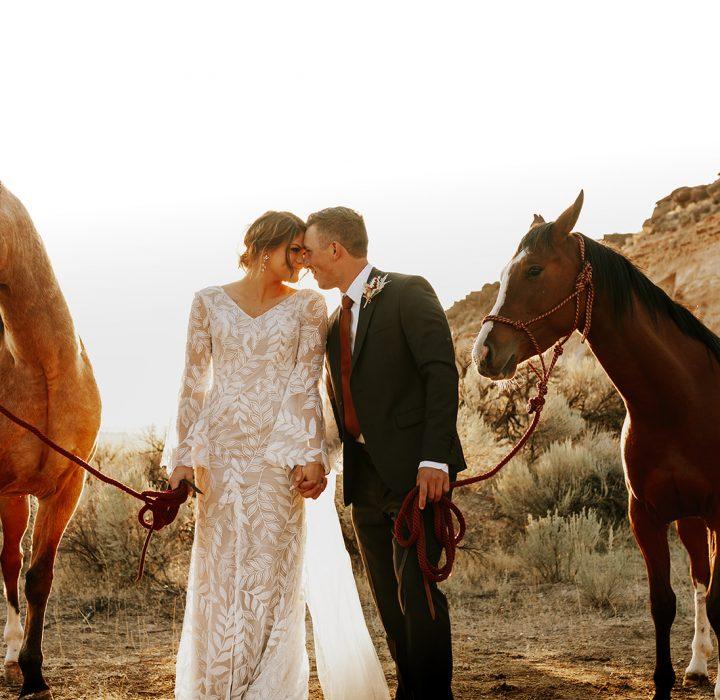 Gorgeous Idaho Falls Boho Inspired Bridals
