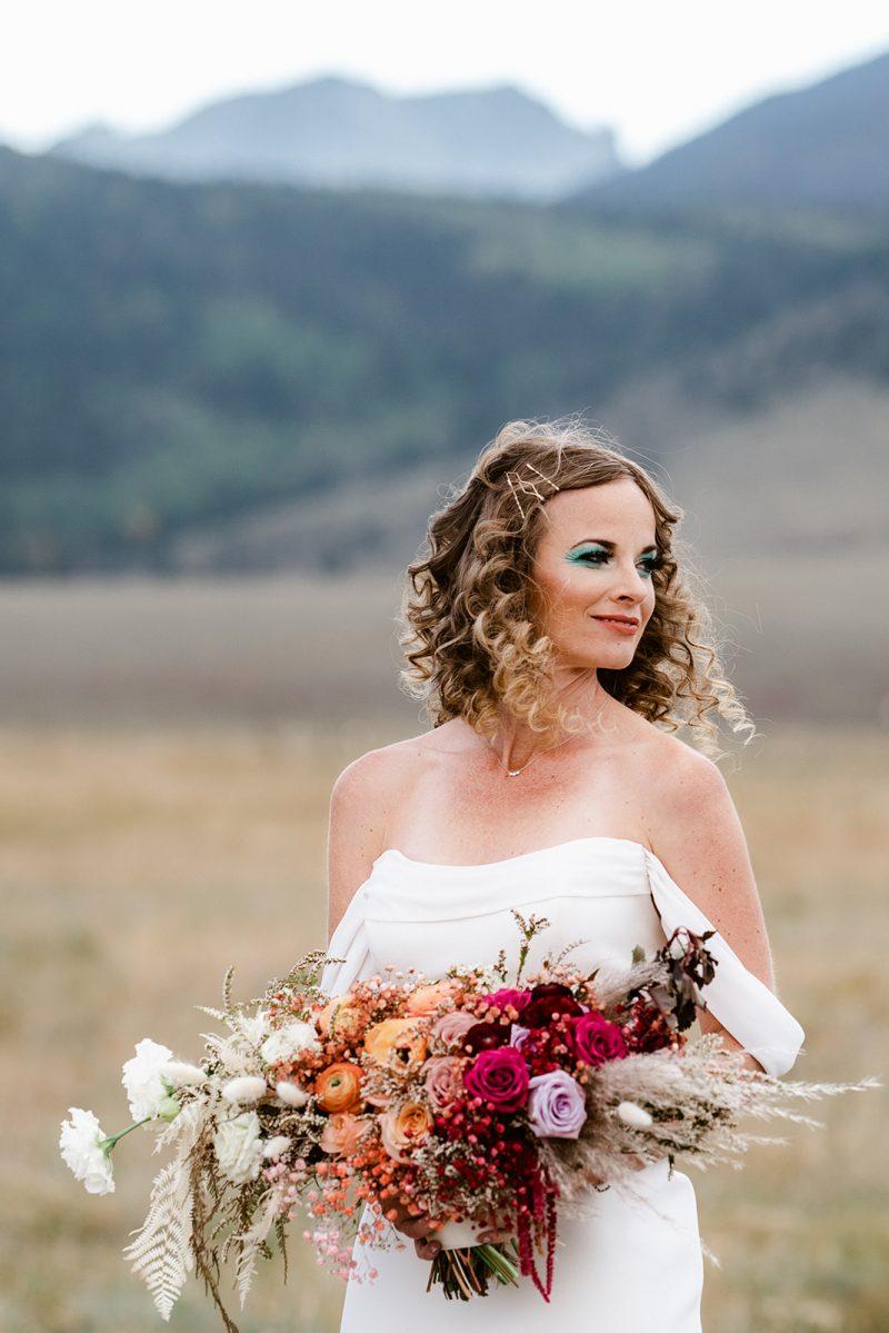 Three Peaks Ranch Vibrant Disco Wedding Inspiration