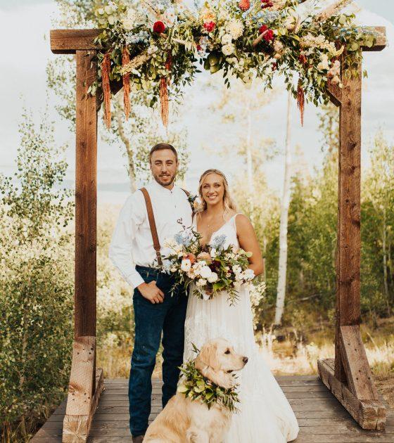 Rustic Bohemian Outdoor Wedding in the Colorado Mountains