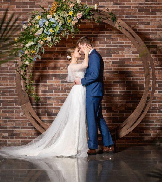 Simply Serene Industrial Wedding Inspiration