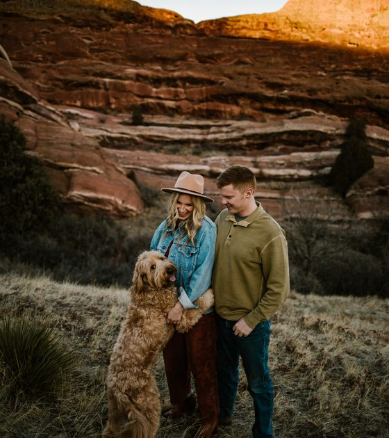 Flirtatious and Fun Red Rocks Engagement