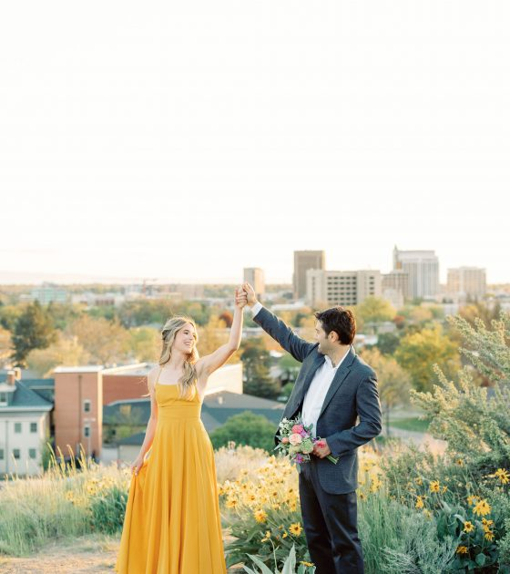 Golden and Bright Boise Foothills Engagement
