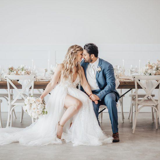 Monochromatic White and Cream Wedding Inspiration