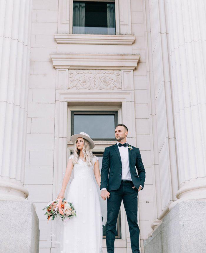 London Wedding Inspiration at Provo Historic Courthouse