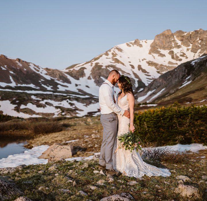 Alpenglow Elopement in Colorado Rockies