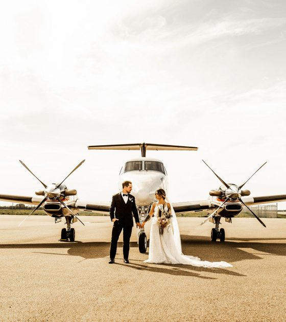 Boho Bliss Aircraft Hangar Wedding Inspiration