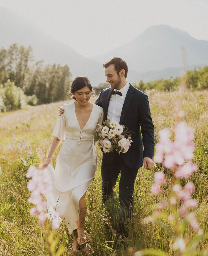 Flower Field Elopement Inspiration in Squamish