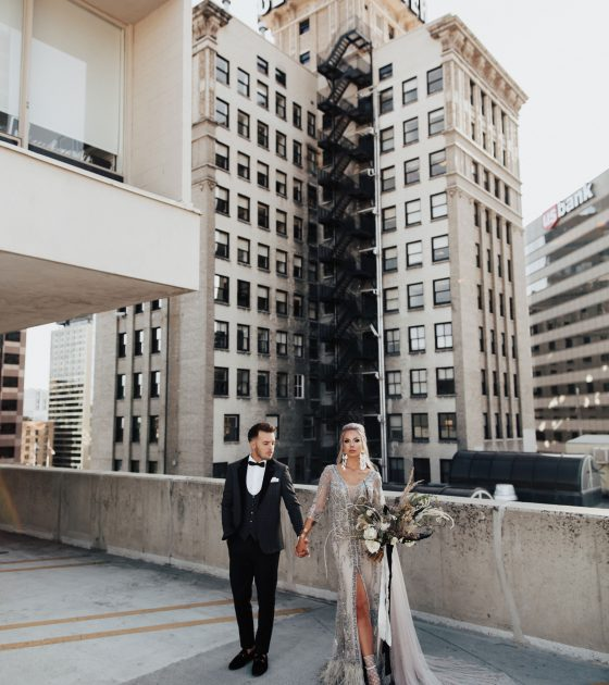 Iconic Rooftop Wedding in Downtown Salt Lake City