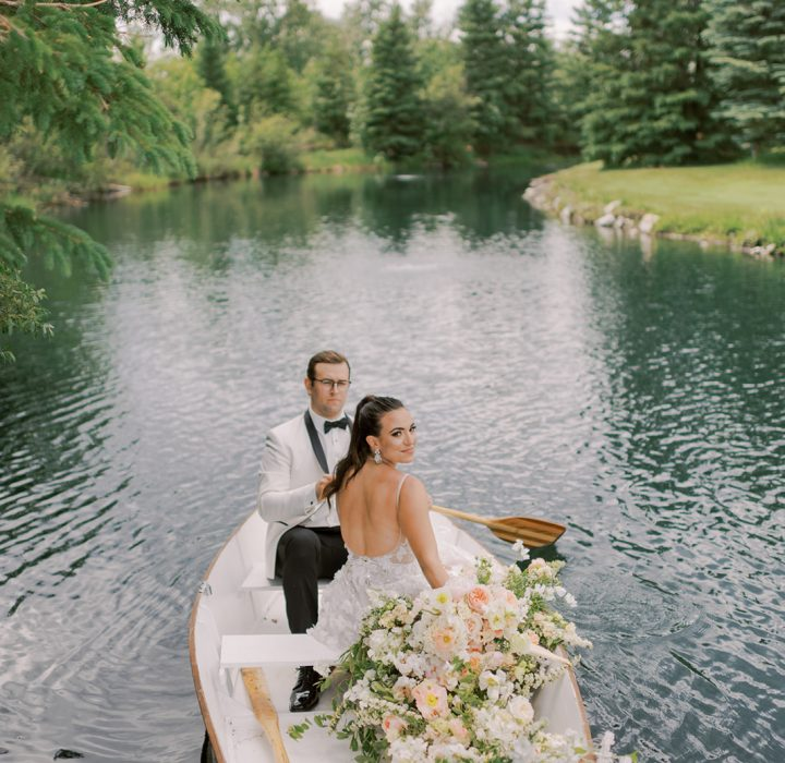 Waterfront and Romantic Row Boat Wedding Inspiration