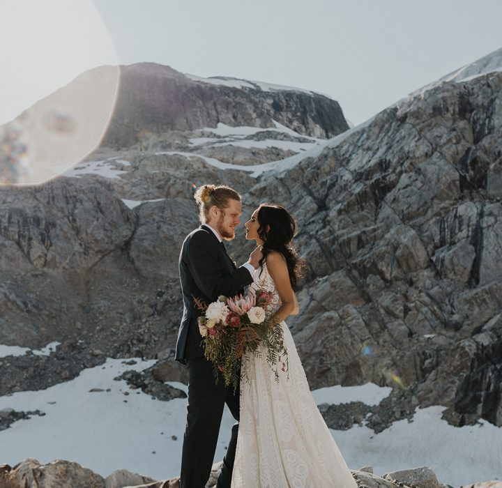 Wild Mountain Elopement Inspiration at Ipsoot Icefield