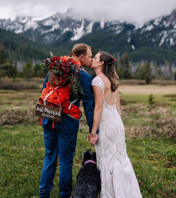 Adventure Elopement With A Camping Inspired Reception on Redfish Lake