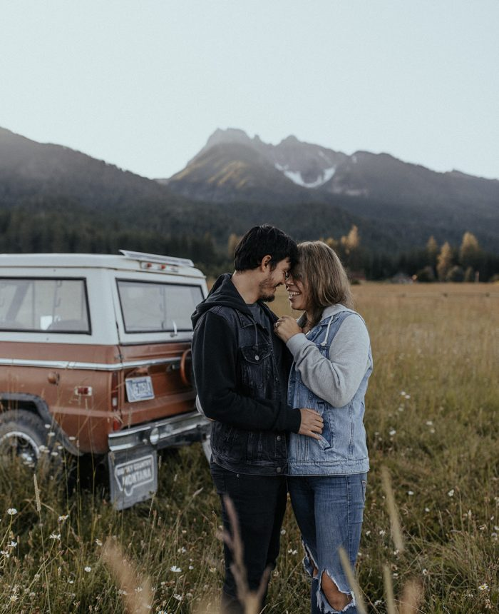 Intimate and Slow Montana Morning Engagement Session