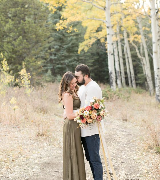Intimate Autumn Picnic Engagement Session