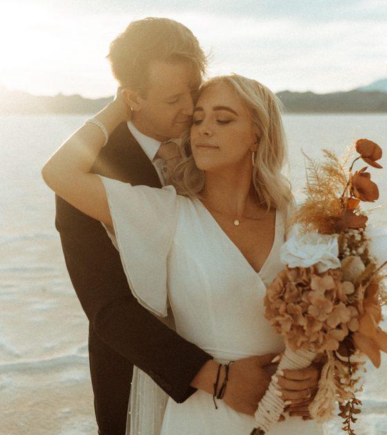 Magical Bridals at Bonneville Salt Flats