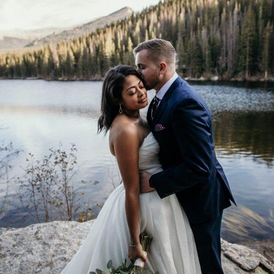 Rocky Mountain National Park Wedding on Sprague Lake