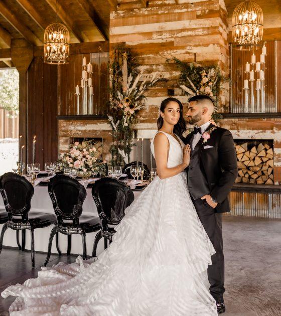 Rustic Meets Modern Luxe Wedding Inspiration