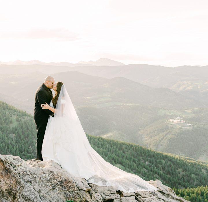 Wedding at Sunrise Amphitheater on Flagstaff Mountain