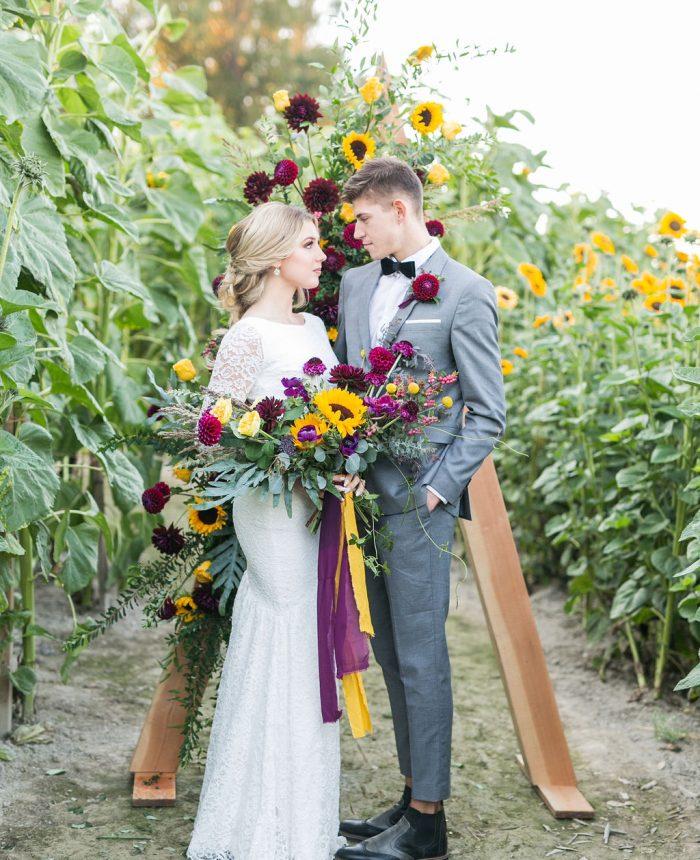 Fall Sunflower Wedding Inspiration